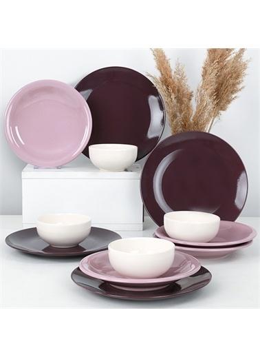 Keramika Ege Degrade Violet Yemek Takımı 12 Parça 4 Kişilik - 580 Renkli